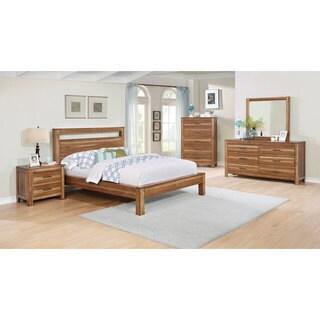 Nicolas Brown Acacia Wood 6-piece Bedroom Set