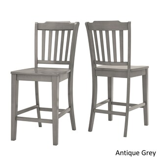 Eleanor Slat Back Wood 24 in. Counter Chair (Set of 2) by iNSPIRE Q Classic (3 options available)