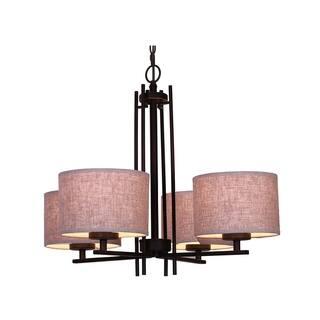 Woodbridge Lighting 15814MEB-S Hudson 4-light Fabric Shade Chandelier|https://ak1.ostkcdn.com/images/products/17018047/P23297906.jpg?impolicy=medium