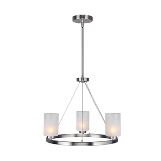 Woodbridge Lighting 16313STN-C10455 Charlotte 3-Light Chandelier