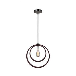 Woodbridge Lighting 17223STN-WLM1WN Hoops Mid-pendant