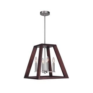 Woodbridge Lighting 17220STN-WLK3WN Walden Wood Pendant