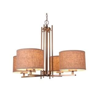 Woodbridge Lighting 15814STN-S Hudson 4-light Fabric Shade Chandelier|https://ak1.ostkcdn.com/images/products/17018073/P23297930.jpg?_ostk_perf_=percv&impolicy=medium