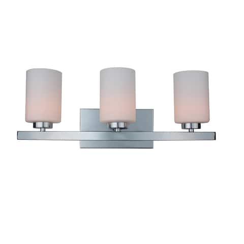 Woodbridge Lighting 16353CHR-C10455 Charlotte 3-light Bath - Opal