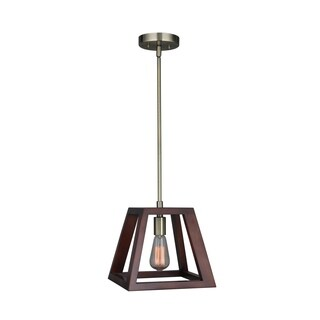 Woodbridge Lighting 17223CBR-WLK1WN Walden Wood Mini-pendant