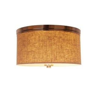 Woodbridge Lighting 15830STN-S Hudson Fabric Shade Flush Mount|https://ak1.ostkcdn.com/images/products/17018087/P23297923.jpg?impolicy=medium