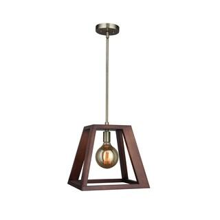Woodbridge Lighting 17223CBR-WLK2WN Walden Wood Mid-pendant