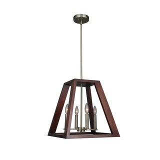 Woodbridge Lighting 17220CBR-WLK3WN Walden Wood Pendant