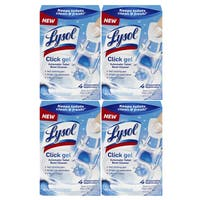 Lysol Click Gel Ocean Fresh Scent Toilet Bowl Cleaner 4-count Cleaning Gels (Pack of 4)