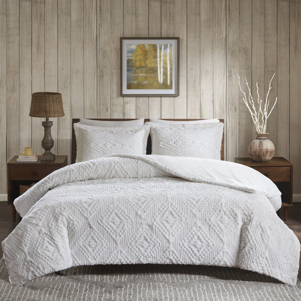 Woolrich Teton Embroidered Ultra Soft Plush Coverlet Set. Opens flyout.