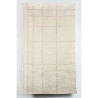 Handmade Softblock Leaves Rug // Handmade (India) (2 options available)