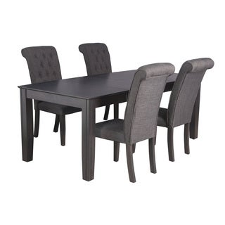 Chelsea Dark Grey Rubberwood 5-piece Dining Set