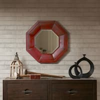Ink and Ivy Warren Red Iron Decor Mirror With MDF Backing