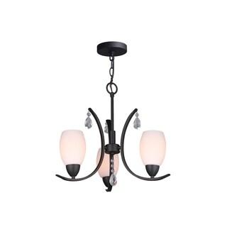 Woodbridge Lighting 15713MEB-C2040 Olivia Opal 3-light Chandelier