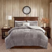 Woolrich Alton Plush to Sherpa Comforter Set with Dec Pillow