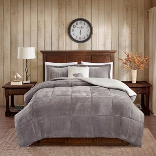Woolrich Alton Plush to Sherpa Comforter Set with Dec Pillow (2 options available)