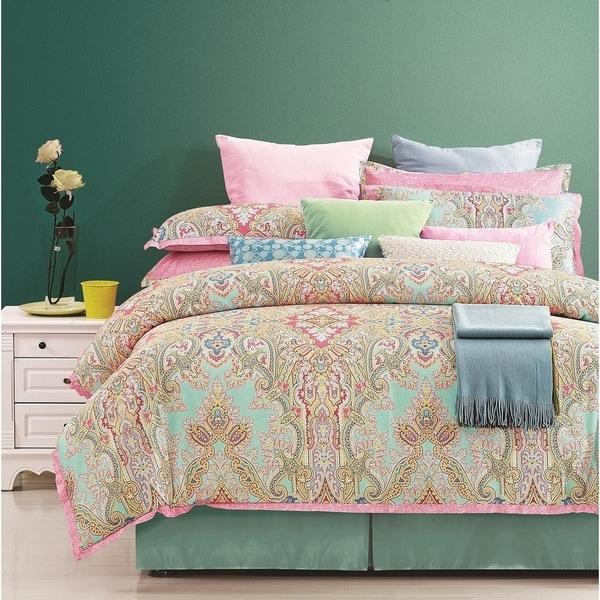 Versailles 100 percent Cotton Printed 8 pc Comforter Set