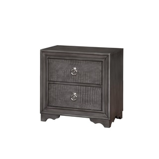 Canon Drive Grey & Silver Glam Nightstand