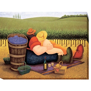 Lowell Herrero 'Summer Picnic' Gallery-wrapped Canvas Giclee Art