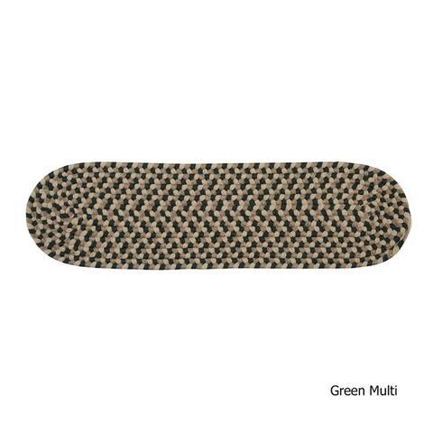 Reversible Multi Oval Braided Stair Tread (Single)