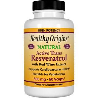 Healthy Origins Resveratrol 300 mg (60 Veggie Capsules)