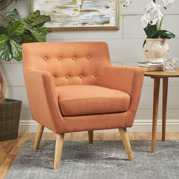 Orange, Mid-Century Modern Living Room Chairs | Shop Online ...