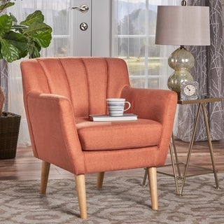 Link to Merel Mid Century Modern Fabric Club Chair by Christopher Knight Home Similar Items in Accent Chairs