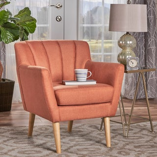 Merel Mid Century Modern Fabric Club Chair by Christopher Knight Home