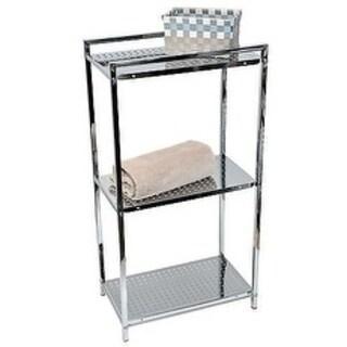 Evideco Storage Floor Cabinet Tower 3-tier Metal Chrome