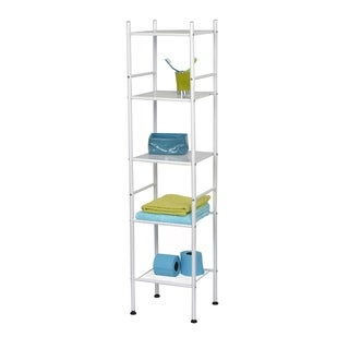 Evideco Bathroom 5 Tier Tower Shelf Free Standing Metal (2 options available)