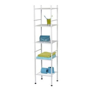 Evideco Bathroom 5 Tier Tower Shelf Free Standing Metal