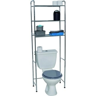 Evideco Bathroom Over the Toilet Space Saver Cabinet Metal 3 Wire Shelves