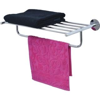 Wall Mounted Towel Rack Organizer 1 Shelf 1 Bar Metal