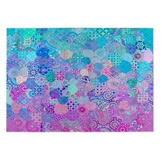 Kavka Designs Blue/ Purple/ Pink Moroccan Dream Indoor/Outdoor Floor Mat ( 4' X 6' )