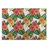 Kavka Designs Green/ Pink/ Yellow Ice Cream Indoor/Outdoor Floor Mat ( 4' X 6' )