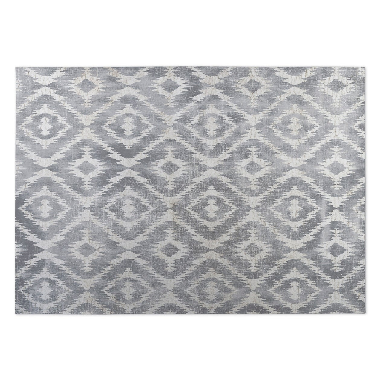 Shop Kavka Designs Grey Omari Gray Indoor Outdoor Floor Mat 4 X