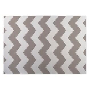 Kavka Designs Ivory/ Taupe Play Chevron Indoor/Outdoor Floor Mat ( 4' X 6' )