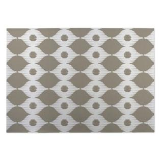 Kavka Designs Ivory/ Taupe Forest Rain Indoor/Outdoor Floor Mat ( 4' X 6' )