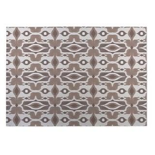 Kavka Designs Ivory/ Taupe Mojave Indoor/Outdoor Floor Mat ( 4' X 6' )