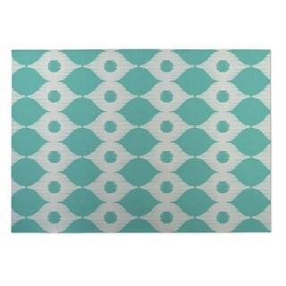 Kavka Designs Ivory/ Turquoise Forest Rain Indoor/Outdoor Floor Mat ( 4' X 6' )