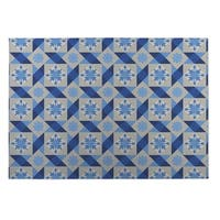Kavka Designs Blue/ Grey Diamond Tiles Indoor/Outdoor Floor Mat ( 4' X 6' )