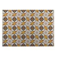 Kavka Designs Brown/ Gold/ Grey Diamond Tiles Indoor/Outdoor Floor Mat ( 4' X 6' )