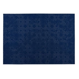 Kavka Designs Navy Beaten Path Indoor/Outdoor Floor Mat - 4' x 5'