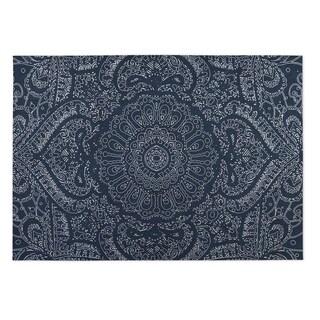 Kavka Designs Blue/ White Mandala Indoor/Outdoor Floor Mat ( 4' X 6' )