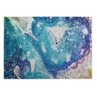 Kavka Designs Blue/ Purple Oyster Bay Indoor/Outdoor Floor Mat ( 4' X 6' )