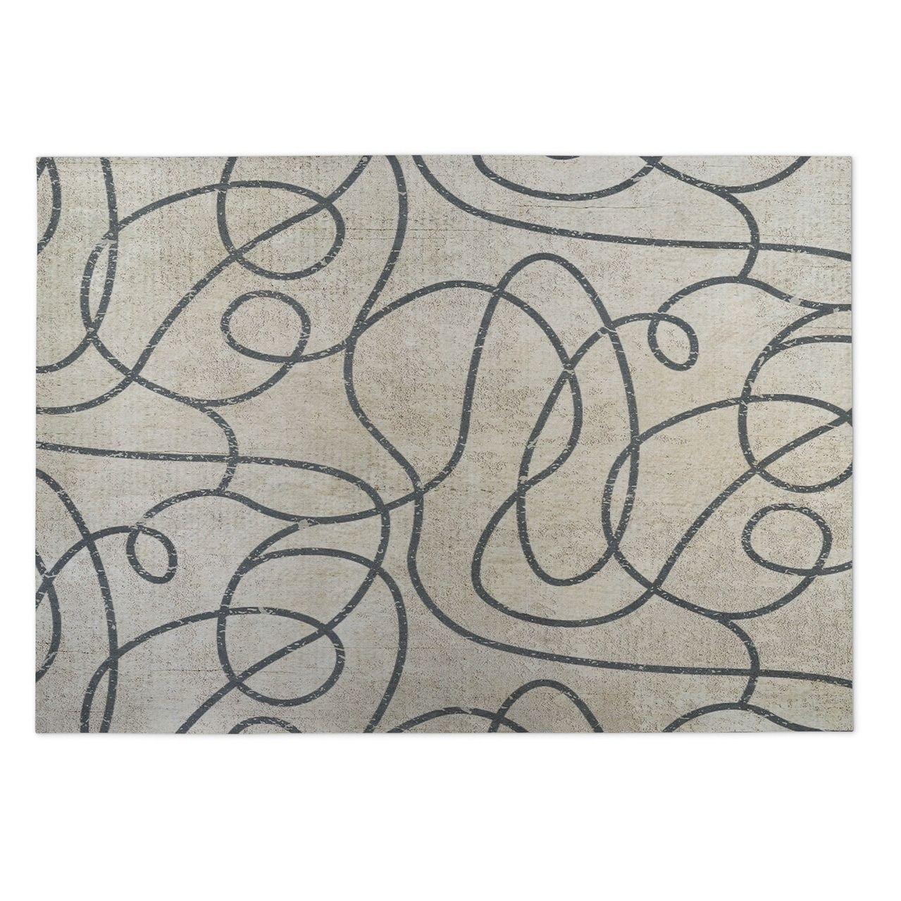 Shop Kavka Designs Tan Grey Connecting Vines Indoor Outdoor Floor