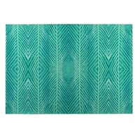 Kavka Designs Green Blue Green Palms Indoor/Outdoor Floor Mat ( 5' X 7' ) - 5' x 7'