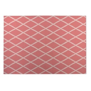 Kavka Designs Coral Lattice Work Indoor/Outdoor Floor Mat - 5' x 7'