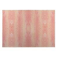 Kavka Designs Blush/ Orange Pink Orange Palms Indoor/Outdoor Floor Mat ( 5' X 7' ) - 5' x 7'