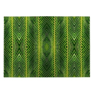 Kavka Designs Green Palm Leaf Indoor/ Outdoor Floor Mat (5' x 7')